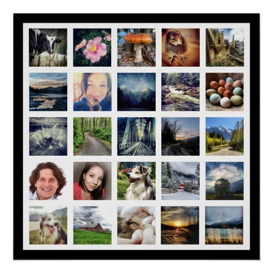 Make Your Own Instagram Photo Gallery Style Poster | Zazzle.com