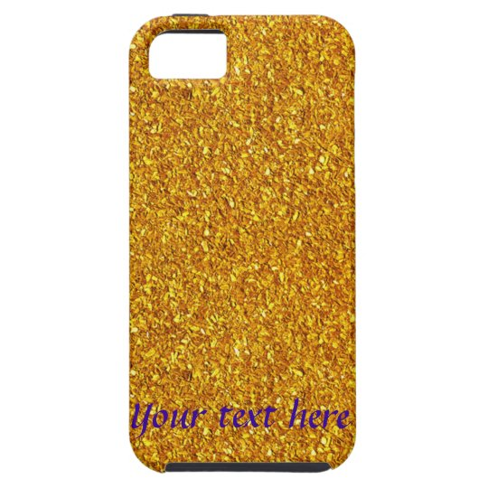 Make your own iPhone 5 case design Template Gold