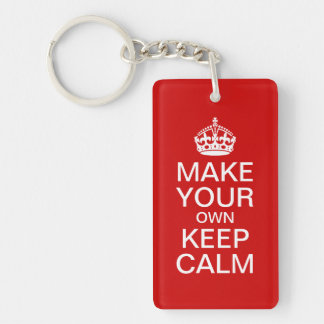 Make Your Own Keep Calm and Carry On Keychain