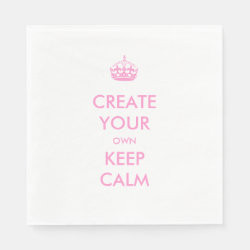 Standard Luncheon Napkin with Keep Calm and Create Your Own design