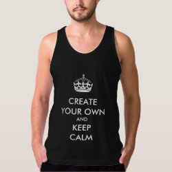 Men's American Apparel Fine Jersey Tank Top with Keep Calm and Create Your Own design