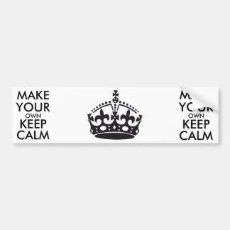 Make your own keep calm - black car bumper sticker