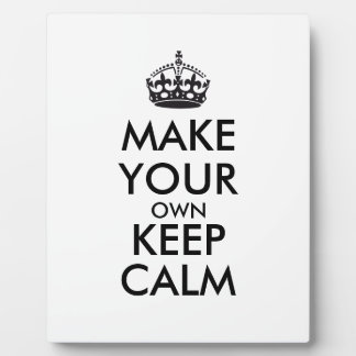 Make your own keep calm - black display plaques
