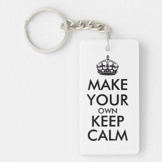 Make your own keep calm - black Double-Sided rectangular acrylic keychain
