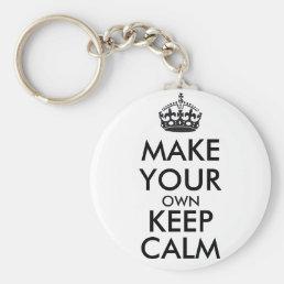 Make your own keep calm - black keychain