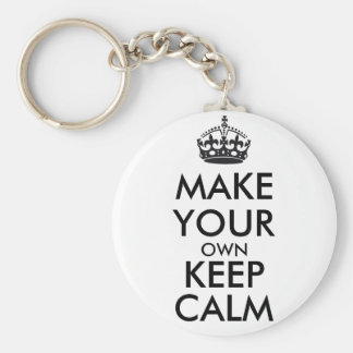 Make your own keep calm - black keychain