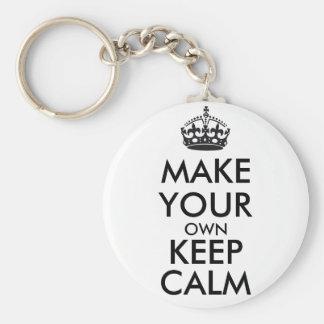Make your own keep calm - black key chains