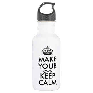Make your own keep calm - black 18oz water bottle