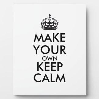 Make your own keep calm - black plaque