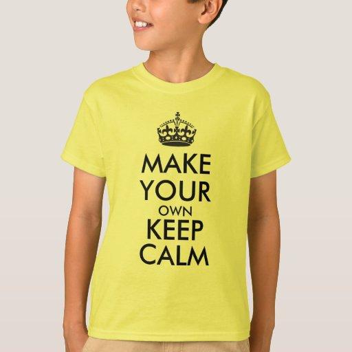 Make Your Own Keep Calm Black T Shirt Zazzle