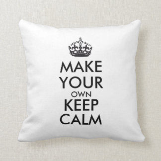 Make your own keep calm - black throw pillow