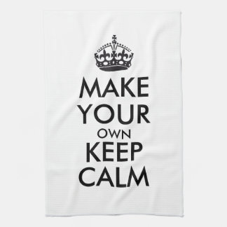 Make your own keep calm - black towel