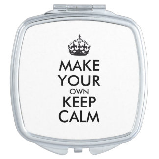 Make your own keep calm - black vanity mirrors
