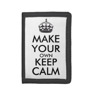 Make your own keep calm - black wallet