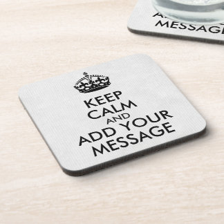 Make Your Own Keep Calm Coaster