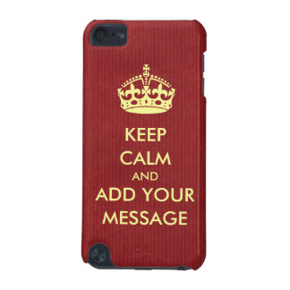 Make Your Own Keep Calm iPod Touch Case