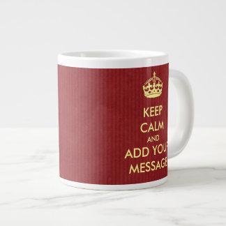 Make Your Own Keep Calm Jumbo Mug 20 Oz Large Ceramic Coffee Mug