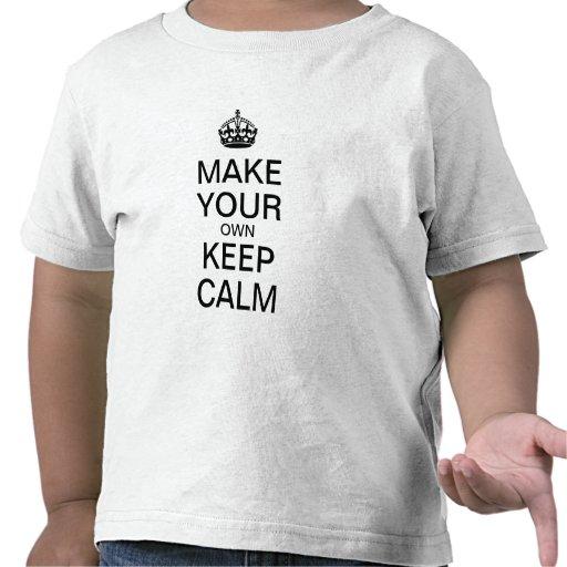Make Your Own Keep Calm Kids Shirt Template Zazzle
