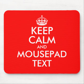 Make your own keep calm mouse pad text