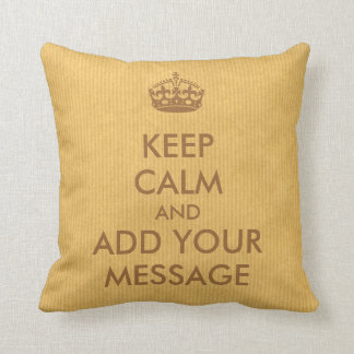 Make Your Own Keep Calm Pillow