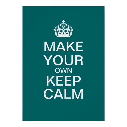 how to make a keep calm poster