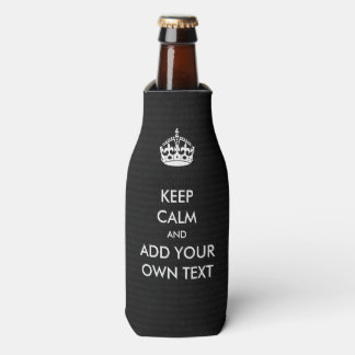 Make Your Own Keep Calm Product Black White Bottle Cooler