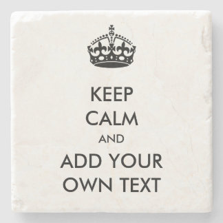 Make Your Own Keep Calm Product Black White Stone Coaster