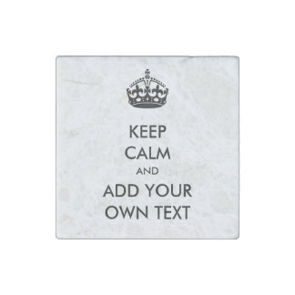 Make Your Own Keep Calm Product Black White Stone Magnet