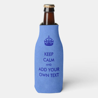 Make Your Own Keep Calm Product Blue Bottle Cooler