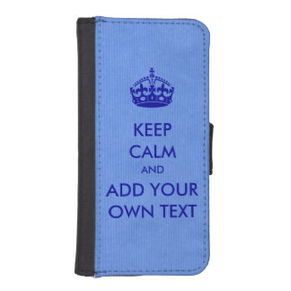 Make Your Own Keep Calm Product Blue iPhone SE/5/5s Wallet Case