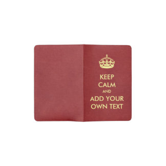 Make Your Own Keep Calm Product Red Yellow Pocket Moleskine Notebook