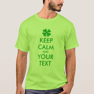 Make your own keep calm St Patricks Day tee shirt