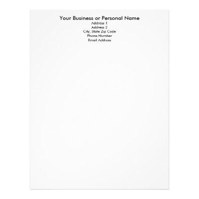 elegant floral chalkboard personal or business letterhead zazzle com
