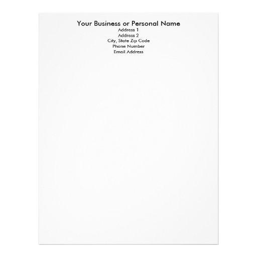 make your own letterhead  letterhead template