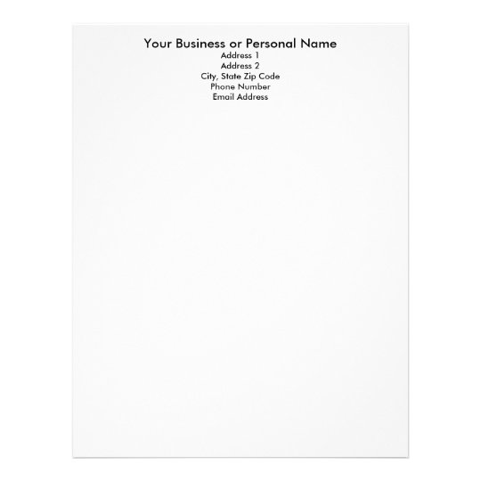 Make Your Own Letterhead, Letterhead Template  Name Address And Phone Number Template