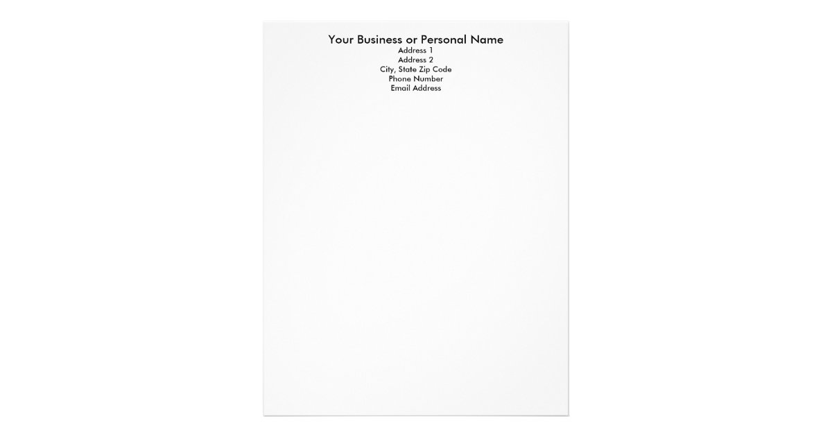 Make Your Own Letterhead Letterhead Template  Zazzle