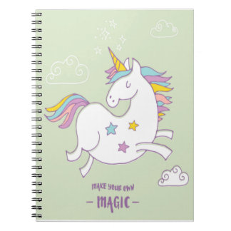 Make Your Own Magic - Unicorn Quote Notebook