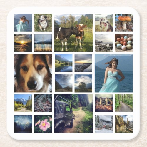 Make Your Own Mega Photo Coaster of Instagram Pics