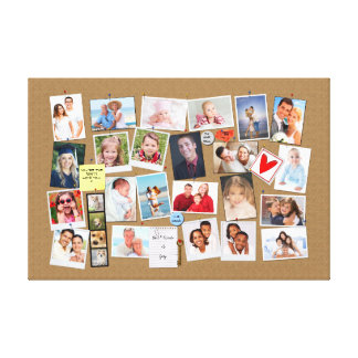 Make Your Own Memories Photo Faux Cork Board Canvas Print