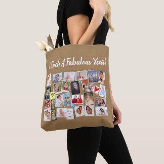 Make Your Own Memories Photo Faux Cork Board Tote Bag