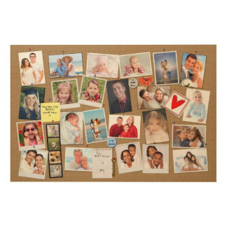 Make Your Own Memories Photo Faux Cork Board Wood Wall Decor