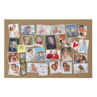 Make Your Own Memory Photo Faux Cork Board Faux Canvas Print