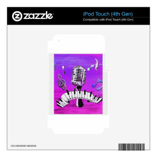 Make Your Own Music iPod Touch 4G Skins