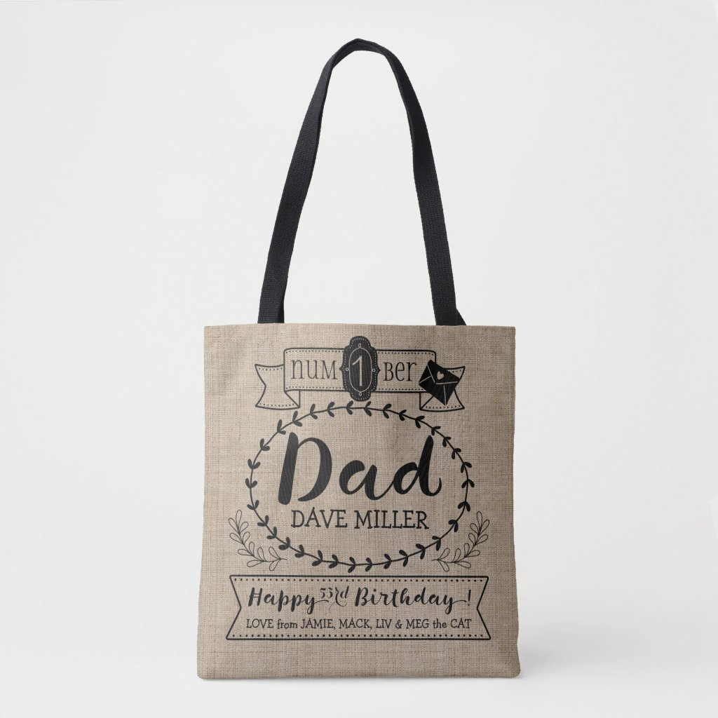 Make Your Own No. 1 Dad Birthday Cute Monogram