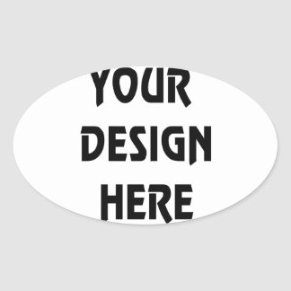 Make Your Own Oval Sticker