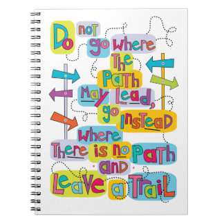Make Your Own Path Quote Notebook