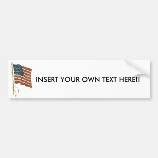 Make your own patriotic bumper sticker
