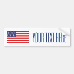 Make your own patriotic usa flag bumper sticker