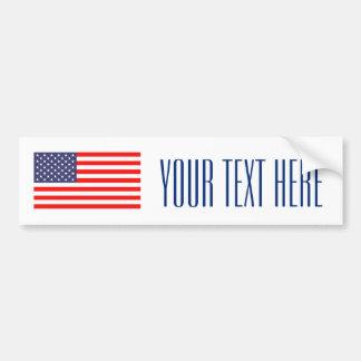 Make your own patriotic usa flag bumper sticker car bumper sticker
