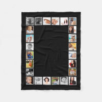 Make Your Own Personalized 24 Photo DIY Custom Fleece Blanket